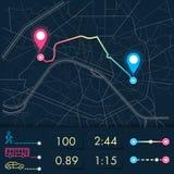 City map navigation. Dashboard theme creative infographic of city map navigation. The interface of the application Navigator, vector illustration stock illustration