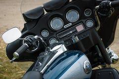 Dashboard van een motorfiets Harley-Davidson Electra Glide Ultra Classic royalty-vrije stock foto