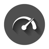Dashboard vector icon. Level meter speed vector illustration Royalty Free Stock Images