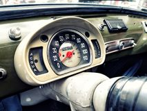 Dashboard Vinage Car Royalty Free Stock Photo