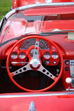Dashboard vintage car. Chevrolet corvette Stock Photos