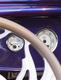 Dashboard in a vintage car Stock Image