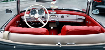 Dashboard vintage car Royalty Free Stock Image
