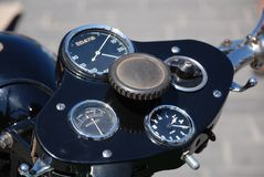 Dashboard vintage motorcycle Royalty Free Stock Photography