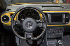 Dashboard VW Beetle Cabrio car Stock Images