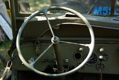 Dashboard WW2 truck Stock Photography
