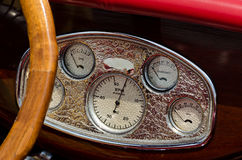 Dashborad in a classic boat Royalty Free Stock Photo
