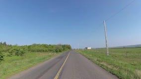 Dashcamera, un camino del carril almacen de video