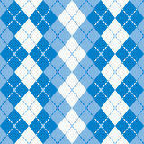 Dashed Argyle in Blue and White Royalty Free Stock Photos
