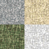 Dashed camouflage.  Seamless vector pattern. Dashed camouflage. Crossing lines. Seamless vector pattern. Set of four coloring options: woodland, urban, desert Stock Image