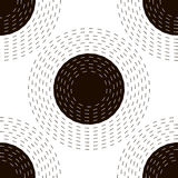 Dashed circles  pattern Royalty Free Stock Image