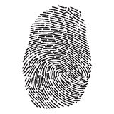 Dashed Line Fingerprint Royalty Free Stock Images