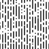 Dashed line texture. Dashed seamless pattern with wide rounded stripes. Abstract irregular linear background. Vector repeating black and white wallpaper royalty free illustration