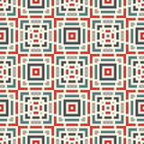 Dashed lines abstract background. Seamless pattern with geometric motif. Simple symmetric ornament. Stock Photo