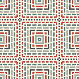 Dashed lines abstract background. Seamless pattern with geometric motif. Simple symmetric ornament. Stock Images