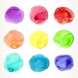 Dashed watercolor circles Royalty Free Stock Photos
