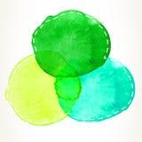 Dashed watercolor circles Stock Photo