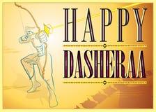 Dasheraa-Grüße lizenzfreie stockfotografie