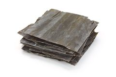 Dashi kombu, dried kelp, japanese soup stock ingre Stock Photography