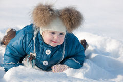 Dashing through the snow Stock Images