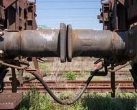 Dashpot of a freight train Royalty Free Stock Photos