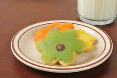 Dasiy shaped sugar cookies Stock Photo