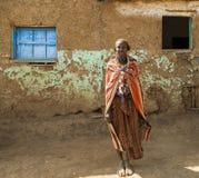 Dassanech女孩画象  Omorato,埃塞俄比亚 图库摄影