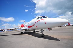 Dassault Aviation executive jet on display at Singapore Airshow 2012 Royalty Free Stock Photography