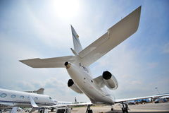 Dassault Falcon 900 business jet on display at Singapore Airshow Stock Photos