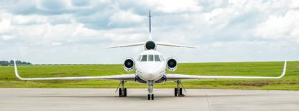 Dassault Falcon 50 Business Jet Panorama stock photography