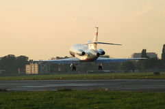 Dassault-Falke 900B, landend Stockbild