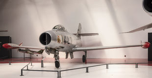 Dassault MD-450 Ouragan 1949 in the Museum of Astronautics an Royalty Free Stock Images