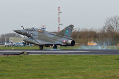 Dassault Mirage 2000 landing during Frisian Flag Stock Photo