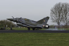 A Dassault Mirage 2000 touching down after a Frisian Flag mission Royalty Free Stock Images