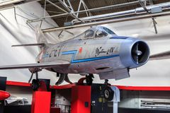 Dassault Mystère IV im Museum lizenzfreie stockbilder