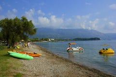 Dassia beach, Corfu Greece Stock Photos