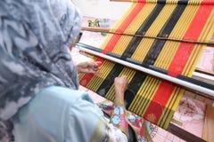 Dastar Weaving. Dastar textile weaving at Kota Belud, Sabah, Malaysia Royalty Free Stock Images