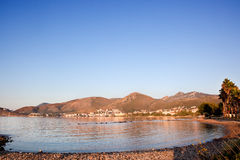 Datça town with mountains and Aegean sea. Turkey. View of datça town with mountains in the background, and Aegean sea in the first term Royalty Free Stock Image