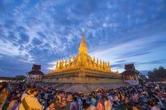 Dat luang festival, Vientiane, Laos Stock Afbeeldingen