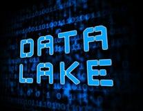 Data湖数字式Datacenter云彩3d例证 皇族释放例证