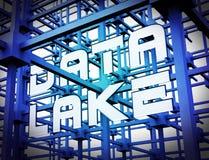 Data湖数字式Datacenter云彩3d翻译 向量例证