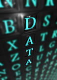 Data. Word isolate with 3d words Stock Photos