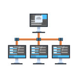 Data Access Icon Cloud Computer Connection Hosting Server Database Synchronize Technology Royalty Free Stock Photos