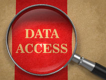 Data Access through Magnifying Glass. Royalty Free Stock Photo