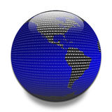 Data across the globe Royalty Free Stock Images