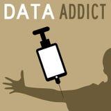 Data addict royalty free stock photo
