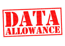 DATA ALLOWANCE. Red Rubber Stamp over a white background Stock Image