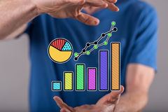 Concept of data analysis Royalty Free Stock Photos