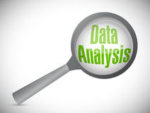 Data analysis concept illustration design Stock Photography