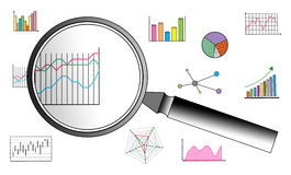 Data analysis concept on white background. Data analysis concept drawn on a white background Stock Photos